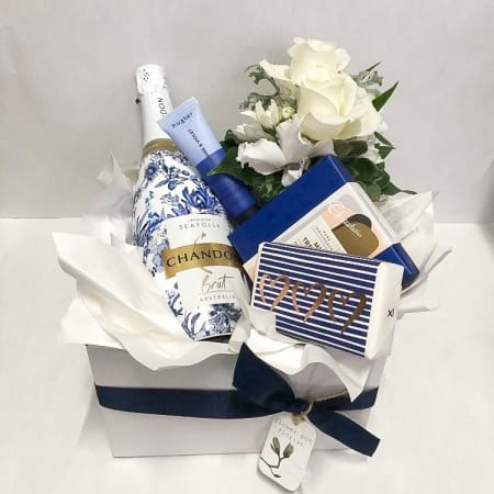 seafolly chandon, chocolate & flower pamper pack