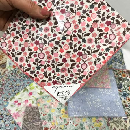 ladies handkerchief by anna`s of australia with fabric by liberty