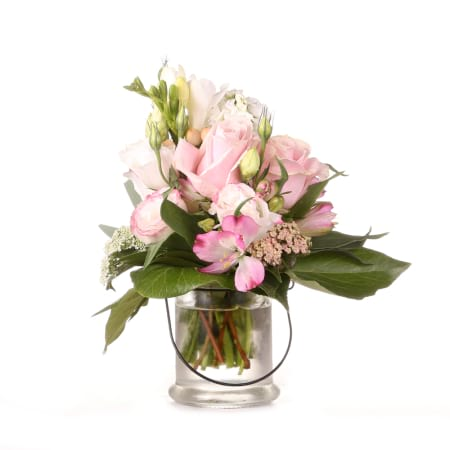 pretty in pink flower pot posy love