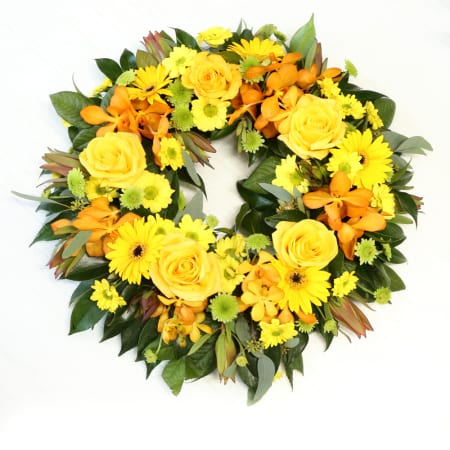 wreath for funeral service
