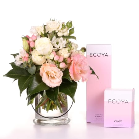 posy gift pack.. flowers and ecoya