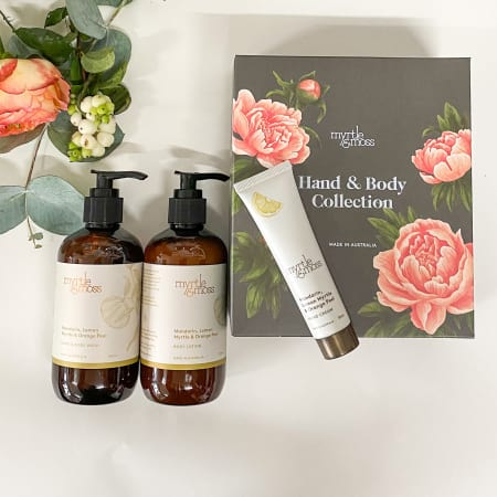 myrtle & moss gift trio in botanical box